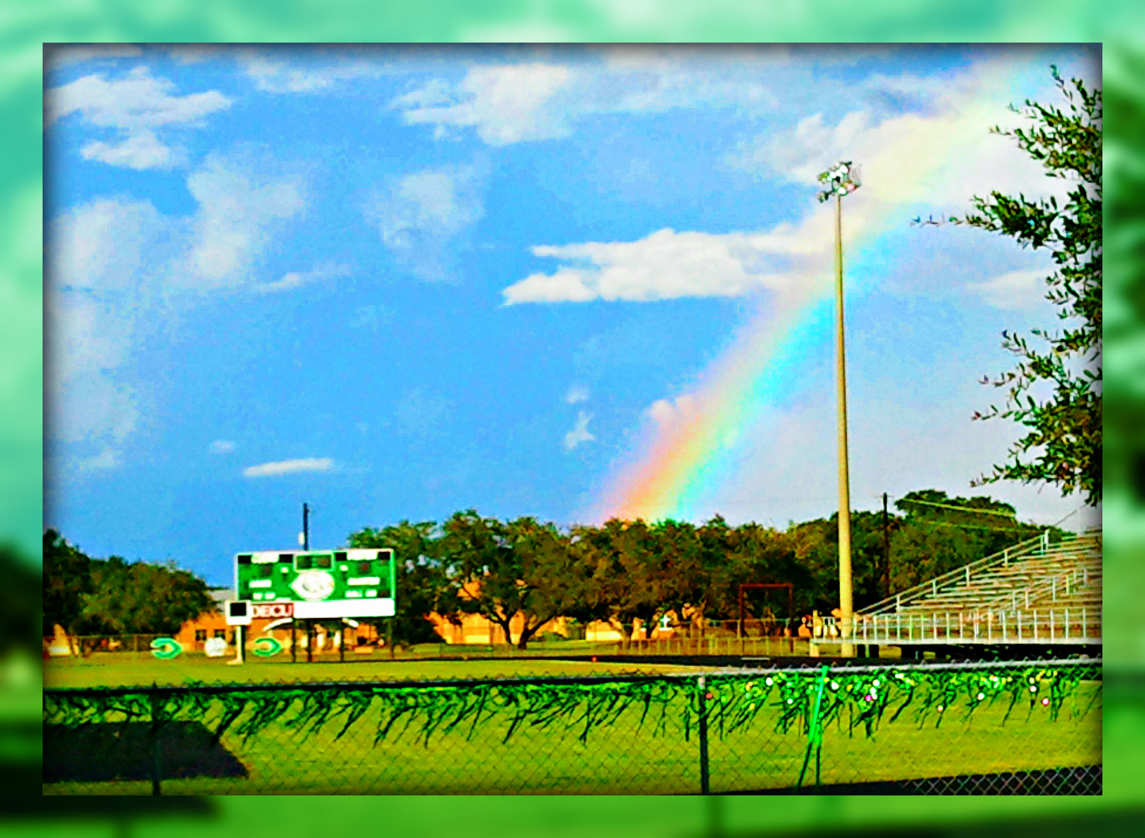Rainbow Over Gobbler Stadium